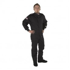 2 piece racing suit black